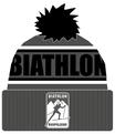 "Biathlon Ruhpolding Beanie ""schwarz/grau"""