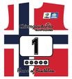 Original Biathlon Startnummer Norwegen / Bib Norway