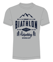"T-Shirt ""Biathlon Ruhpolding - Bavarian Alps"" in grey melange"