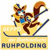 Pin Beppo der Biathlonfuchs