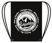 Organic Premium Cotton Gymbag mit Kordelzug in schwarz