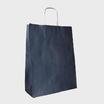 Bolsa asa trenzada kraft verjurado fondo azul oscuro, asa kraft
