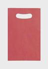 Bolsa asa troquelada kraft  fondo rojo
