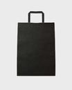 Bolsa asa plana celulosa blanca fondo negro