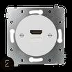 Prise HDMI, enjoliveur blanc