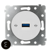 Prise USB 3, enjoliveur blanc