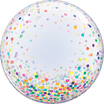 Bubble-Ballon bedruckt im Konfetti-Style (unbefüllt)