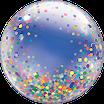 Bubble-Ballon bedruckt im Konfetti-Style (inkl. Heliumfüllung)