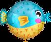 Geschenkballons: Küssende Fische