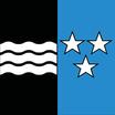 Aargau  Fahne mit eingesetzem Wappen