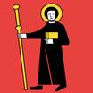 Glarus  Fahne mit eingesetzem Wappen