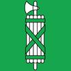 St. Gallen  Fahne mit eingesetzem Wappen