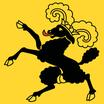 Schaffhausen  Fahne mit eingesetzem Wappen