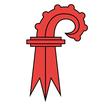Basel - Land  Fahne mit eingesetzem Wappen