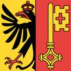 Genf / Genève  Fahne mit eingesetzem Wappen