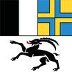 Graubünden  Fahne mit eingesetzem Wappen