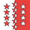 Wallis / Valais  Fahne