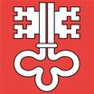 Nidwalden  Fahne mit eingesetzem Wappen