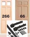 バーンドアレール金物 +木製ドア単体 セットで販売 限定3セット