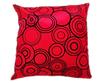 タイシルク クッションカバー  リングデザイン レッド 【赤】 【Ring Design , Red / Thaisilk Cushion Cover】 45×45cm 対応