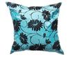 タイシルク クッションカバー  ロータス デザイン  ライト ブルー 【青】   【Lotus Design , Light Blue / Thaisilk Cushion Cover】  45×45cm 対応