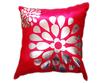 タイシルク クッションカバー  フラワー デザイン レッド 【赤】  【Flower Design , Red / Thaisilk Cushion Cover】 45×45cm 対応