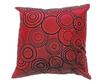 タイシルク クッションカバー  リングデザイン ワインレッド  【赤】 【Ring Design , Wine Red / Thaisilk Cushion Cover】 45×45cm 対応
