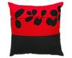 タイシルク クッションカバー  リーフ デザイン レッド 【赤】  【Leaf Design , Red / Thaisilk Cushion Cover】 45×45cm 対応