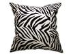 タイシルク クッションカバー  ゼブラ デザイン ホワイト 【白】  【Zebra Design , White / Thaisilk Cushion Cover】 45×45cm 対応