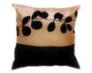 タイシルク クッションカバー  リーフ デザイン シャンパンゴールド 【金】  【Leaf Design , Champagne Gold / Thaisilk Cushion Cover】 45×45cm 対応