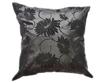 タイシルク クッションカバー  ロータス デザイン   ブラック 【黒】   【Lotus Design , Black / Thaisilk Cushion Cover】  45×45cm 対応
