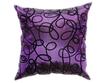 タイシルク クッションカバー  インフィニティ デザイン  パープル 【紫色】   【Infinity Design , Purple / Thaisilk Cushion Cover】  45×45cm 対応