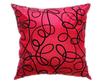 タイシルク クッションカバー  インフィニティ デザイン  レッド 【赤】   【Infinity Design , Red / Thaisilk Cushion Cover】  45×45cm 対応