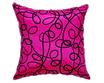 タイシルク クッションカバー  インフィニティ デザイン  ピンク 【桃色】   【Infinity Design , Pink / Thaisilk Cushion Cover】  45×45cm 対応