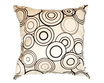 タイシルク クッションカバー  リングデザイン パールホワイト 【白】 【Ring Design , Pearl White / Thaisilk Cushion Cover】 45×45cm 対応