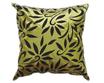 タイシルク クッションカバー  バンコク リーフ デザイン  グリーン 【緑】   【Bangkok Leaf Design , Green / Thaisilk Cushion Cover】  45×45cm 対応