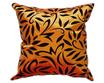 タイシルク クッションカバー  バンコク リーフ デザイン  オレンジ 【橙】  【Bangkok Leaf Design , Orange / Thaisilk Cushion Cover】  45×45cm 対応