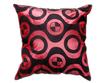 タイシルク クッションカバー  チェッカーデザイン ワインレッド 【赤】 【Checker Design , Wine Red / Thaisilk Cushion Cover】 45×45cm 対応