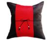 タイランド クッションカバー チェンマイ デザイン  レッド × ブラック 【赤×黒】  【Chiang Mai Design , Red × Black / Thailand Cushion Cover】 40×40cm