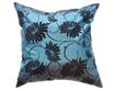 タイシルク クッションカバー  ロータス デザイン  ターコイズ ブルー 【青】   【Lotus Design , Turquoise Blue / Thaisilk Cushion Cover】  45×45cm 対応