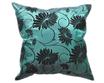 タイシルク クッションカバー  ロータス デザイン  エメラルド グリーン 【緑】   【Lotus Design , Emerald Green / Thaisilk Cushion Cover】  45×45cm 対応