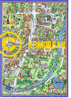 Prints of Cotswold Towns -  pictorial map -  A3
