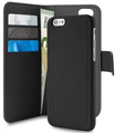 Puro IPH6 Plus Book Detachable Eco-Leather magnetica Color  Black
