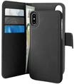 Puro IPHX/Xs Book Eco-Leather Detachball  Black con tasche carte di credito