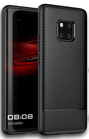 Huawei Mate 20 Pro Cover silicone/carbonio Black