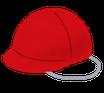 【加良部小】メッシュ生地紅白帽子