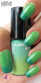 Layla Thermo Polish Effect 2 dark to light green