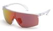 Adidas SP 0005 Transparent Frosted Crystal / Grey Orange Mirror