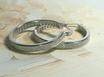 Ref.: 00049 Argollas en plata 925 y doble fila de  zircon