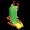 Винтовая горка (CURVED SLIDE)